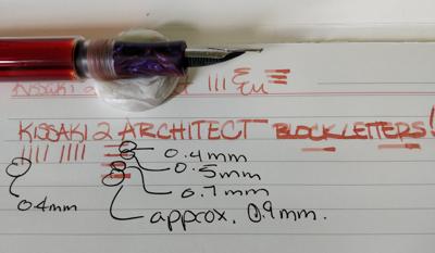 kissaki architect nib
